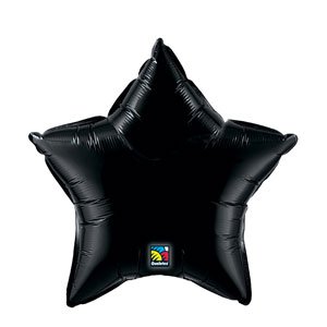 20 Inch Star Metallic Balloon- Onyx Black