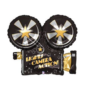 Lights Camera Action Shape Balloon- 32in