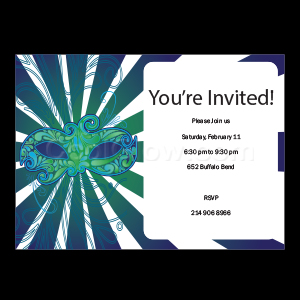 Masquerade - Custom Invitations