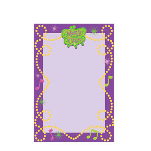 Mardi Gras Imprintable Invitations - 8ct