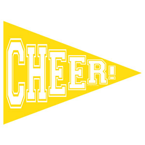 Cheer Banner Pennant - Yellow