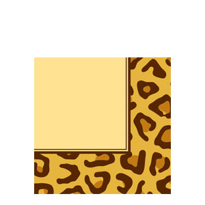Leopard Print Luncheon Napkins- 16ct