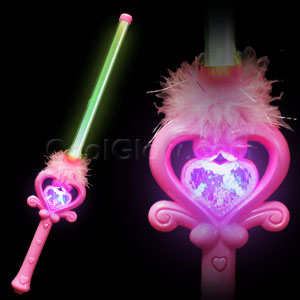 Fun Central AD633 LED Light Up Fairy Heart Wand