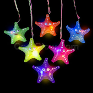 LED Jelly Starfish Necklaces - Assorted