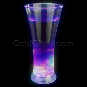 LED 12oz Liquid Activated Slender Pilsner Cup - Multicolor