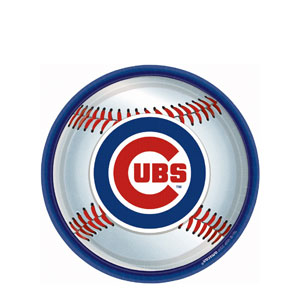 Chicago Cubs 9 Inch Plates- 18ct