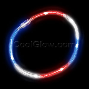 LED Light Chaser Necklace - Red-White-Blue