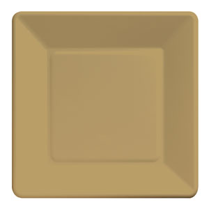 Gold Square 9 Inch Plates- 18ct