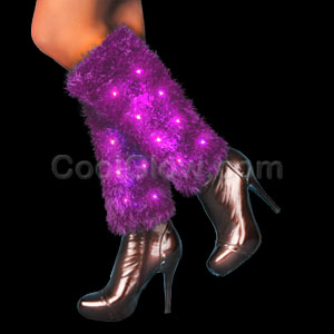 LED Leg Warmers - Purple