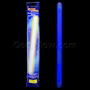 Fun Central O019 14 Inch Glow in the Dark Sticks - Blue