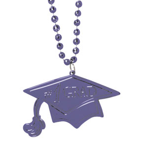 Purple Graduation Bead Necklace