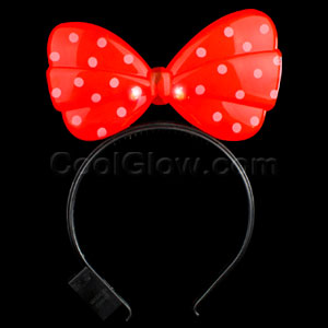LED Minnie Mouse Headband - Red