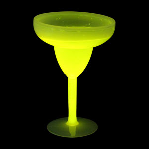Glow Margarita Glass 10 oz. - Yellow