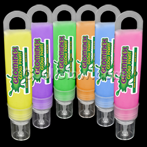 Glominex Glow Paint 1 oz Tubes - Assorted 6ct