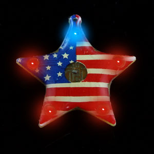Flashing U.S.A. Star Blinky