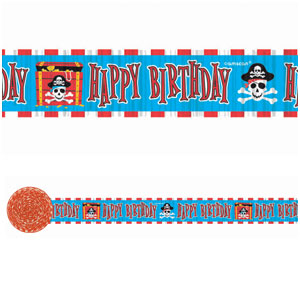 Pirate Party Crepe Streamer- 30ft
