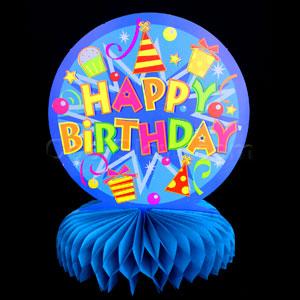 Honeycomb Centerpiece - Happy Birthday - 21st Birthday Decorations