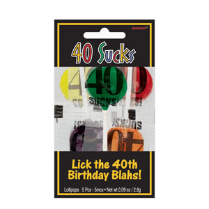 40 Sucks Lollipops- 5ct
