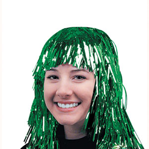 Green Gleam Party Wig