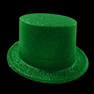 Glitter Top Hat - Green