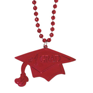 Red Graduation Bead Necklace