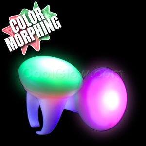 LED Strobing Glow Button Rings - Multicolor