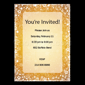 Golden Snow Happy Holidays - Custom Invitations