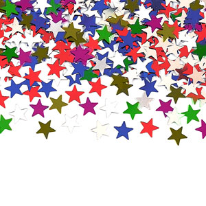 Multicolored Stars Confetti Pack- 0.5oz.