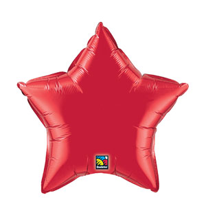 20 Inch Star Metallic Balloon - Red