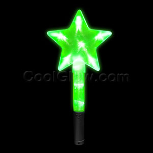 LED Super Star Wand - Green