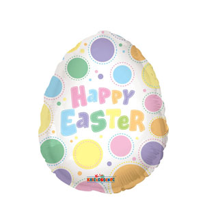 Easter Egg Dots Balloon - 18 Inch