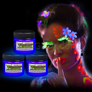 Glominex Glow Body Paint 1 oz Jar - Blue