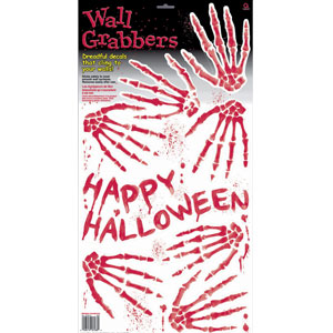 Skeleton Hand Prints Wall Grabber- 9ct