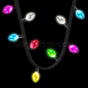 LED Holiday Lights Necklace