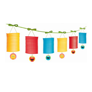 Sesame Street 1st Birthday Lantern Garland - 12 ft