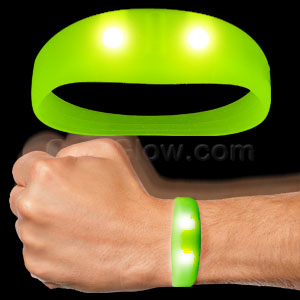 LED Motion Activated Wristband - Green