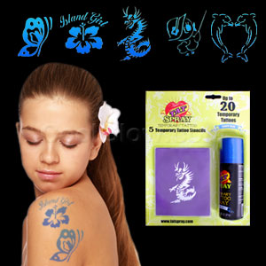 Temporary Tattoo Kit - Blue