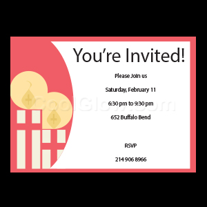 Red Candles - Custom Invitations