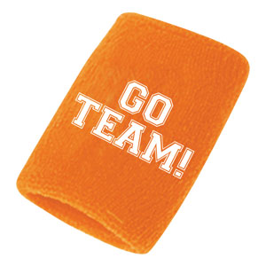 Go Team Sweatbands - Orange