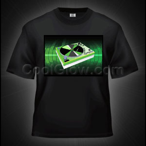 LED Sound Activated T-Shirt - Turntable