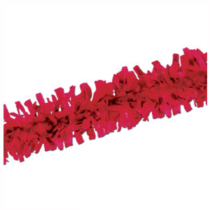 Red Tissue Festooning - 25ft