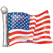 American Flag Patriotic Metallic Balloon - 27 Inch