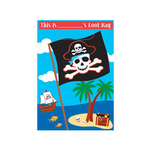 Pirate Party Loot Bag- 8ct