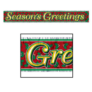 Season's Greetings Fringe Banner - 5ft