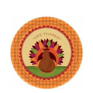 Give Thanks 7 Inch Plates- 18ct