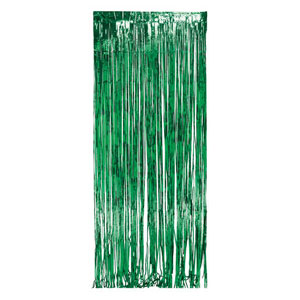 Green Foil Door Curtain