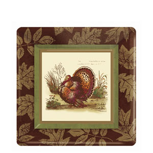 Thanksgiving Sophistication 7 Inch Square Plates- 8ct
