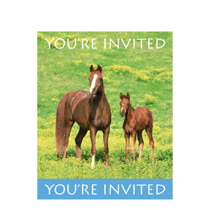 Wild Horses Invitations- 8ct
