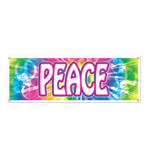 Peace Sign Banner - 5ft