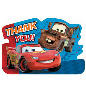 Cars 2 Thank You Cards